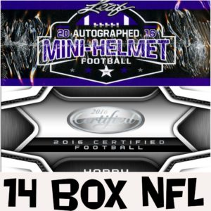 16 NFL Certified Helmets 14 Box @ Random Teams